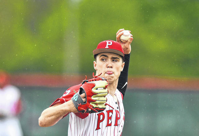 Perry's Ryan Yingst pitches during Thursday's game against Hardin Northern at Perry High School.