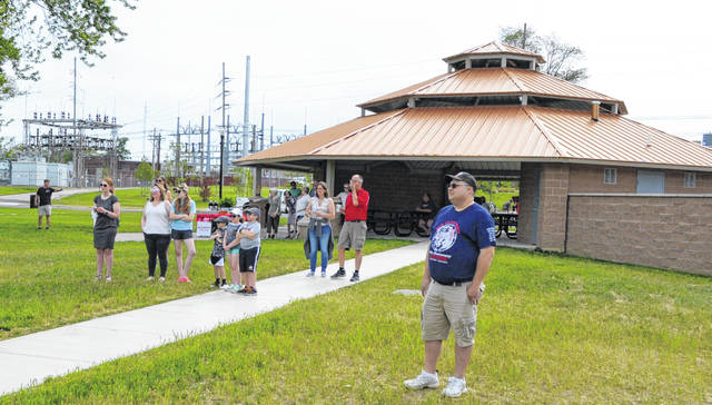 A new shelter house is among the big improvements to Heritage Park in Wapakoneta.