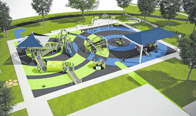 Rendering of the All Abilities Playground upon full construction