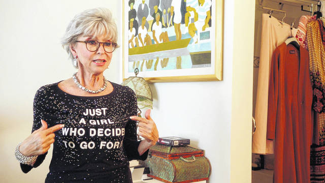 """This image released by Roadside Attractions shows Rita Moreno in a scene from the documentary """"Rita Moreno: Just a Girl Who Decided to Go for It."""""""