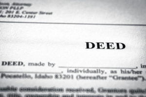 How to get a person's name removed from a deed