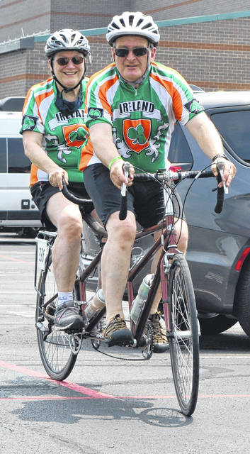 It's been 10 years since Eoin and Debbie Herlihy have participated in the Great Ohio Bicycle Adventure. This year's event was renamed the Western Ohio Bicycle Adventure, a pared down version with 260 cyclists, due to the COVID-19 pandemic.