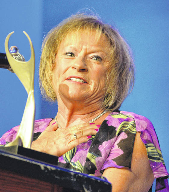 Kathy Keller won the Athena Award from the chamber at the annual gala Wednesday night.