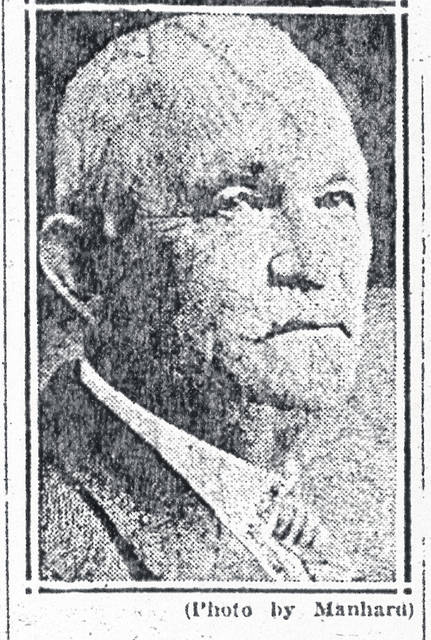 A 1927 photograph shows Edwin Cook, who died the following year.