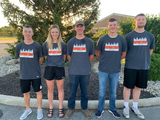 From left: Eric Wieging, Brooke Hellman, Nathan Sealts, Jake Wurst and Nick Wurst.