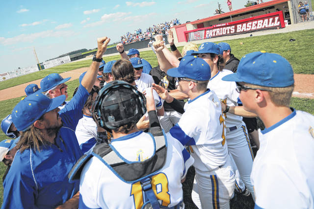 Lincolnview, shown here celebrating its regional title Saturday after beating Leipsic, looks to continue that trend when the Lancers participate in the Division IV state tournament beginning with a contest against Lucasville Valley (20-11) at Canal Park in Arkon at 10 a.m. Saturday.