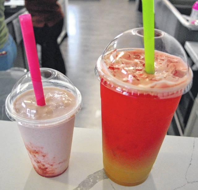 Phoenix Nutrition in downtown Lima offers a variety of meal replacement shakes and energizing teas.