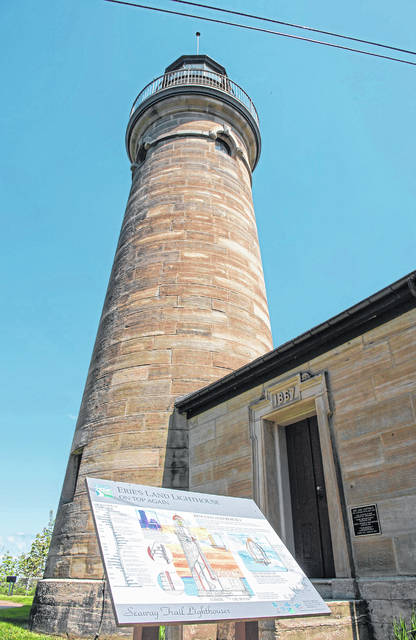 The Erie Land Lighthouse, now open for public tours, is shown May 10 in Erie, Pennsylvania.