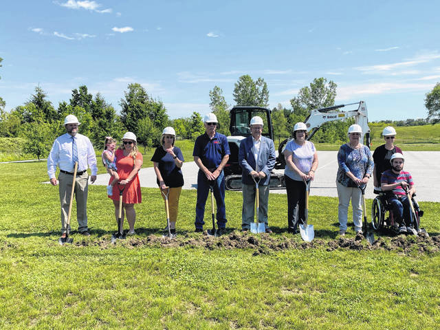 Ohio House Speaker Bob Cupp (R-Lima) joins Allen County officials and community leaders for the groundbreaking of the All Abilities Playground at Marimor Legacy Park