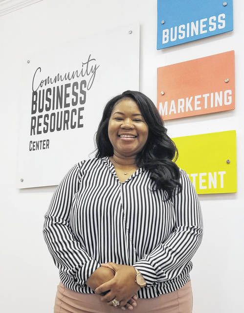 Chelle Sanders has opened the Community Business Resource Center to help small businesses in the Lima community.