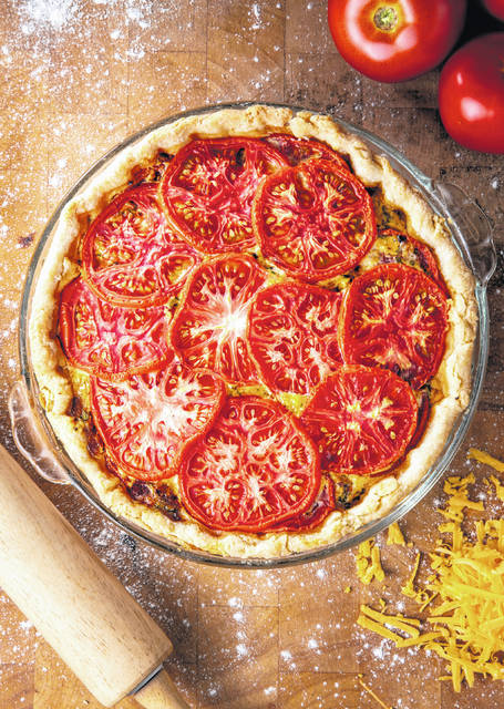 A tomato pie is shown July 7.