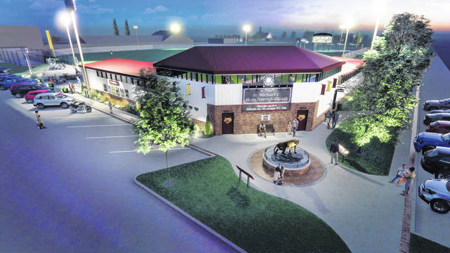 Planned updates to Holy Name Ballpark in Kalida are shown in this artist's rendering.