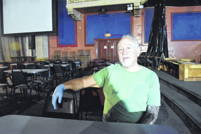 Michael Bouson, co-owner of the Ohio Theatre in downtown Lima, has been at the historic theater daily for the past three months overseeing renovations and improvements.