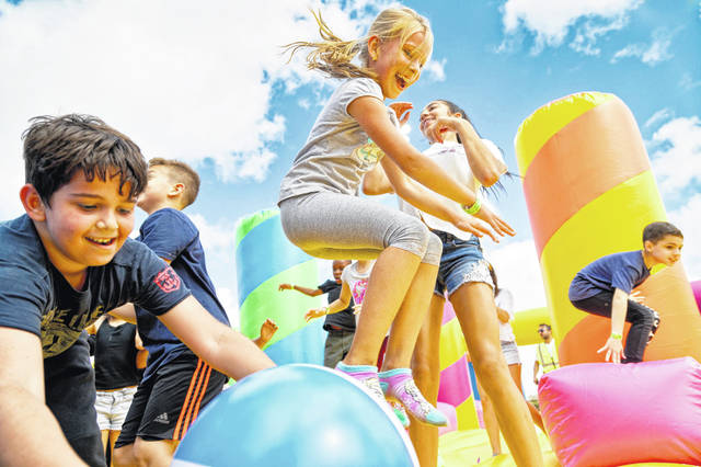 The inflatables will take over Victory Sports Park on Aug. 20-22. The park is located at 7777 Victory Lane in North Ridgeville.