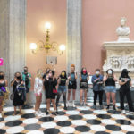 Abortion rights protesters rally inside Ohio Statehouse