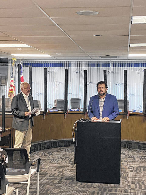 Veterans Memorial Civic and Convention Center CEO Abe Ambroza gave a preview of upcoming shows for the venue's 'comeback season' at Lima Mayor David Berger's press conference on Wednesday.