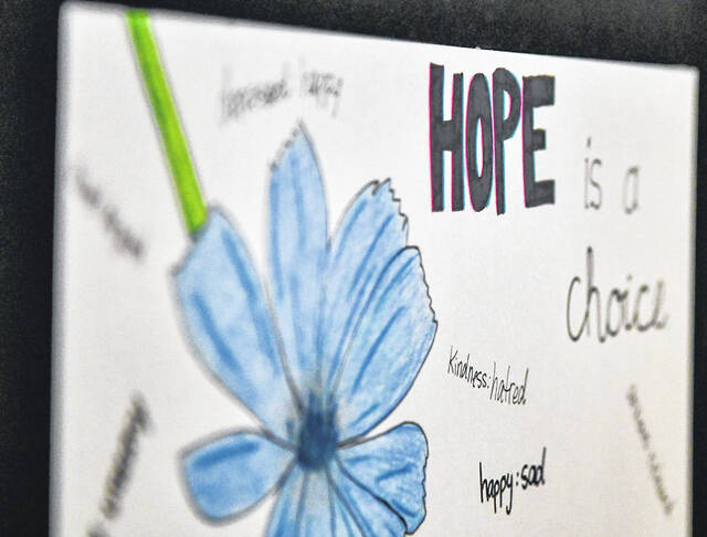 """The """"Rediscover Hope"""" exhibit opened Monday at ArtSpace/Lima, 65 Town Square, Lima. The exhibit, a collaboration with Coleman Health Services, brings art from local artists to raise awareness in the need for mental health and recovery services. A signature art auction benefitting Coleman will run Oct. 4 through 20. Register by calling <a href=""""tel:330-676-6876"""" target=""""_blank"""" title=""""330-676-6876"""">330-676-6876</a>, emailing <a href=""""mailto:howtohelp@colemanservices.org"""" target=""""_blank"""" title=""""howtohelp@colemanservices.org"""">howtohelp@colemanservices.org</a> or online at <a href=""""https://j.mp/39k1f7o"""" target=""""_blank"""" title=""""https://j.mp/39k1f7o"""">j.mp/39k1f7o</a>. The exhibit is open 10 a.m. to 5 p.m. Tuesdays through Saturdays through Oct. 20."""