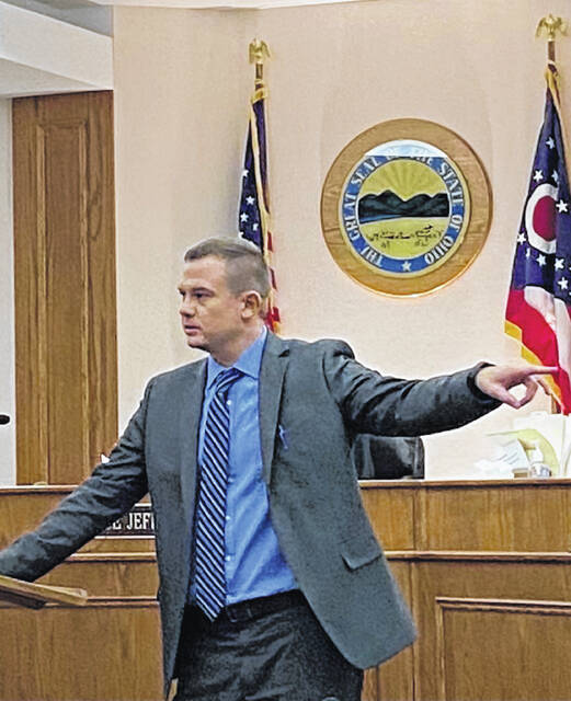 Allen County Assistant Prosecuting Attorney Joe Everhart gave the opening statement for the state in the double-murder case against Michelle Alves.