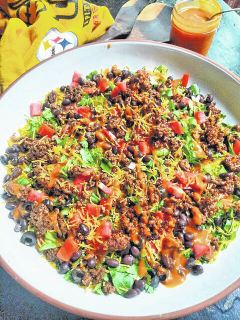 Taco salad is easy to prepare, transports well and avoids the mess of a handheld taco.