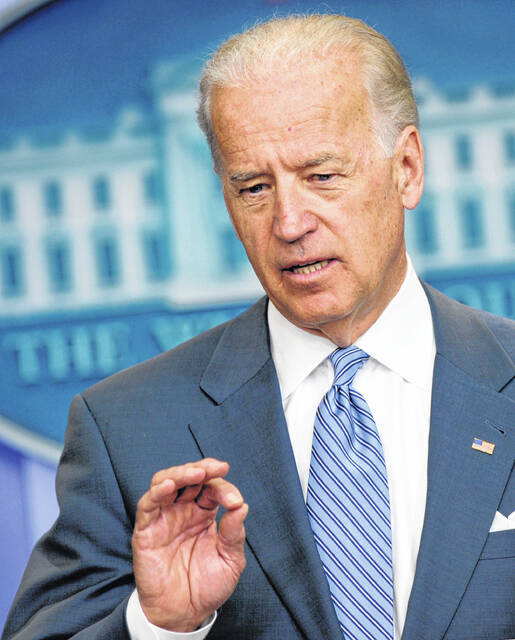 Vice President Joe Biden speaks during the daily press briefing in the Brady Press Briefing Room at the White House in Washington, Monday, April  19, 2010.(AP Photo/Susan Walsh)