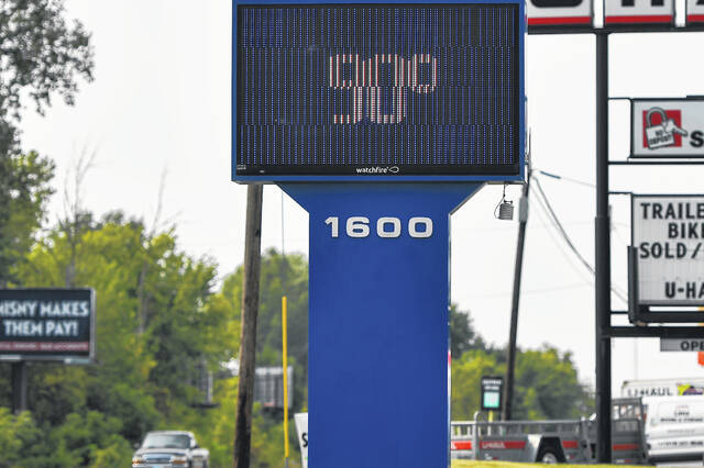 Temperatures in Elida hit 90 degrees on Monday.