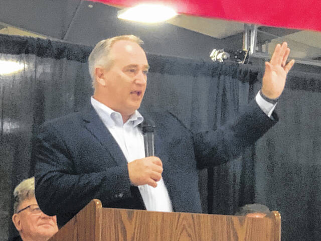 Ohio Auditor Keith Faber spoke at the Midwest Electric annual breakfast Monday morning.