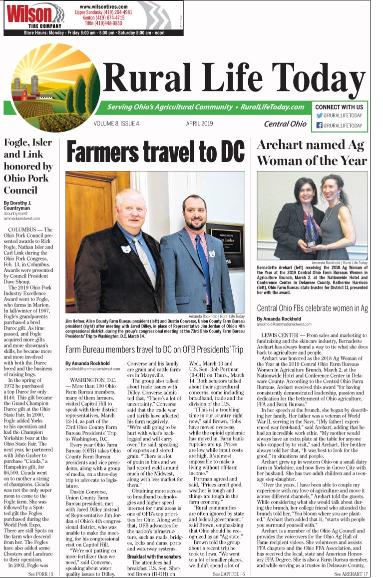 Rural Life Today Central – April 2019