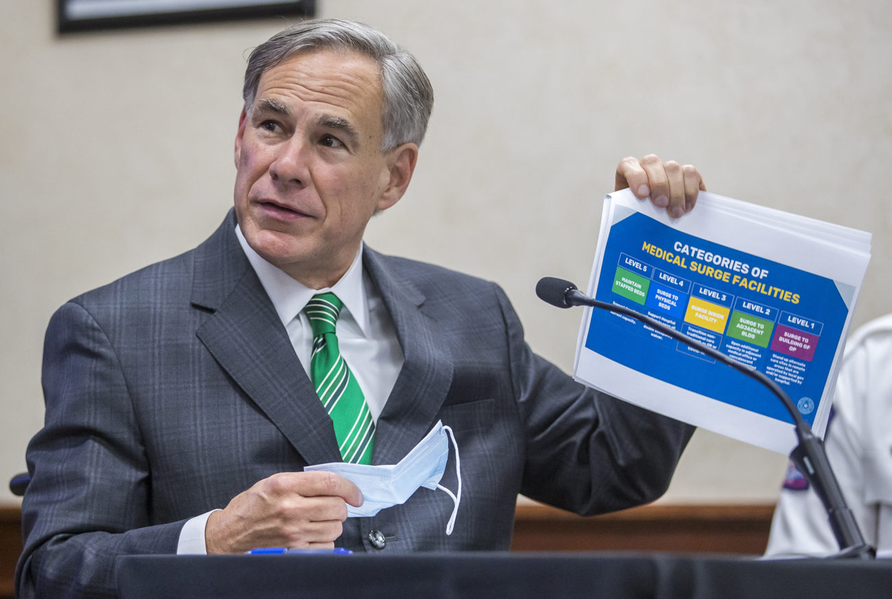 Texas governor warns coronavirus is spreading at an